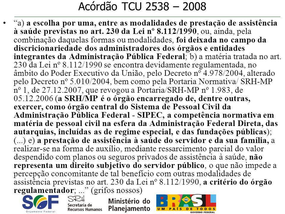 Acórdão TCU 2538 – 2008