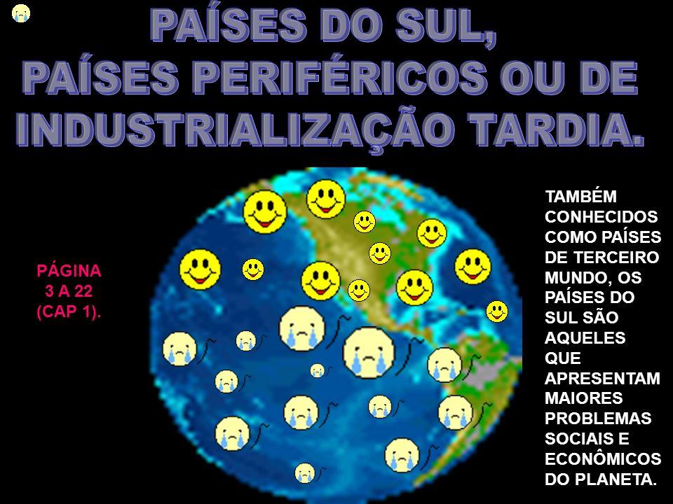 PAÍSES PERIFÉRICOS OU DE INDUSTRIALIZAÇÃO TARDIA.