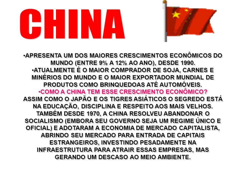 COMO A CHINA TEM ESSE CRESCIMENTO ECONÔMICO