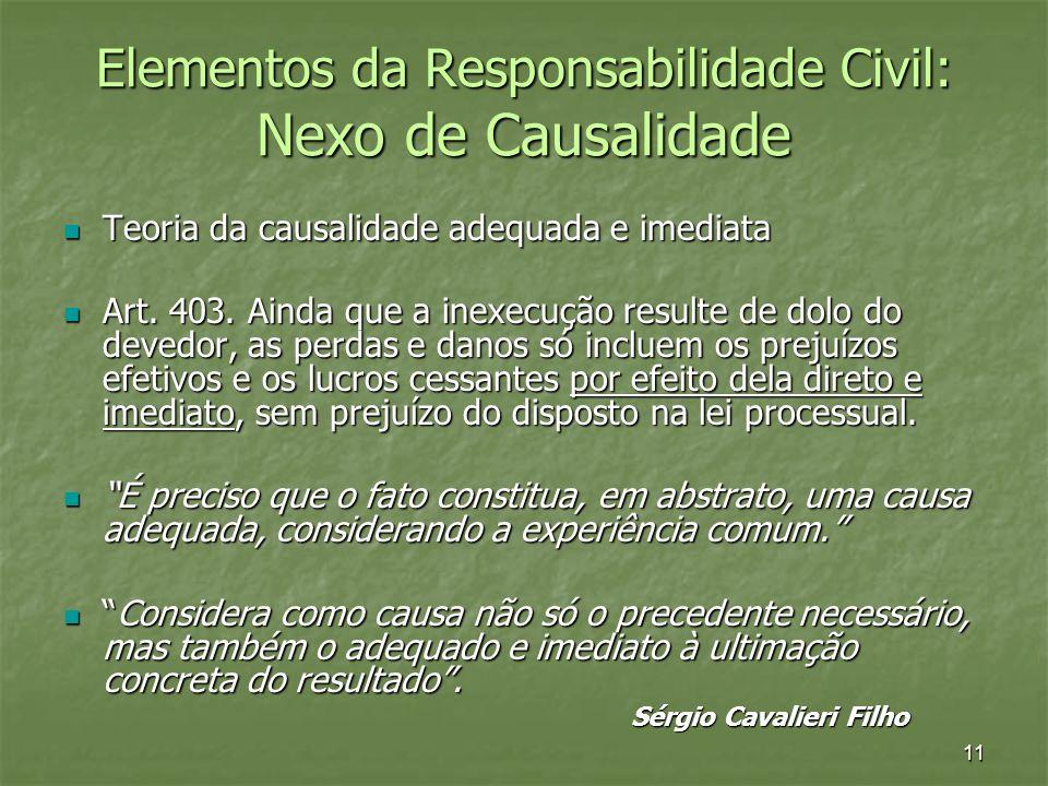 Elementos da Responsabilidade Civil: Nexo de Causalidade