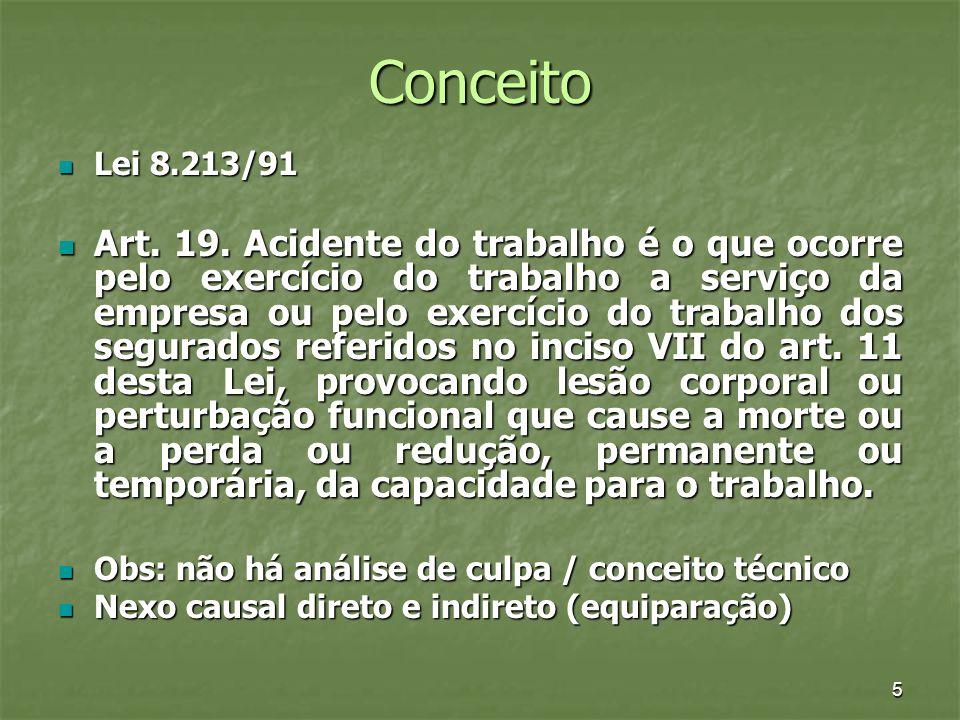 Conceito Lei 8.213/91.