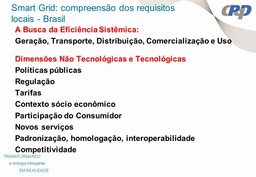 Smart Grid: compreensão dos requisitos locais - Brasil