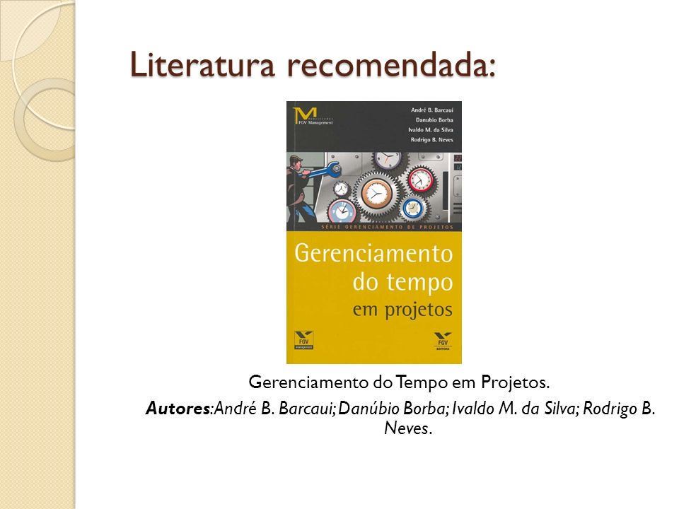 Literatura recomendada: