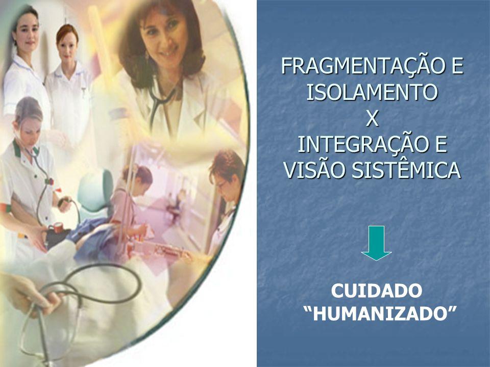 FRAGMENTAÇÃO E ISOLAMENTO X INTEGRAÇÃO E VISÃO SISTÊMICA