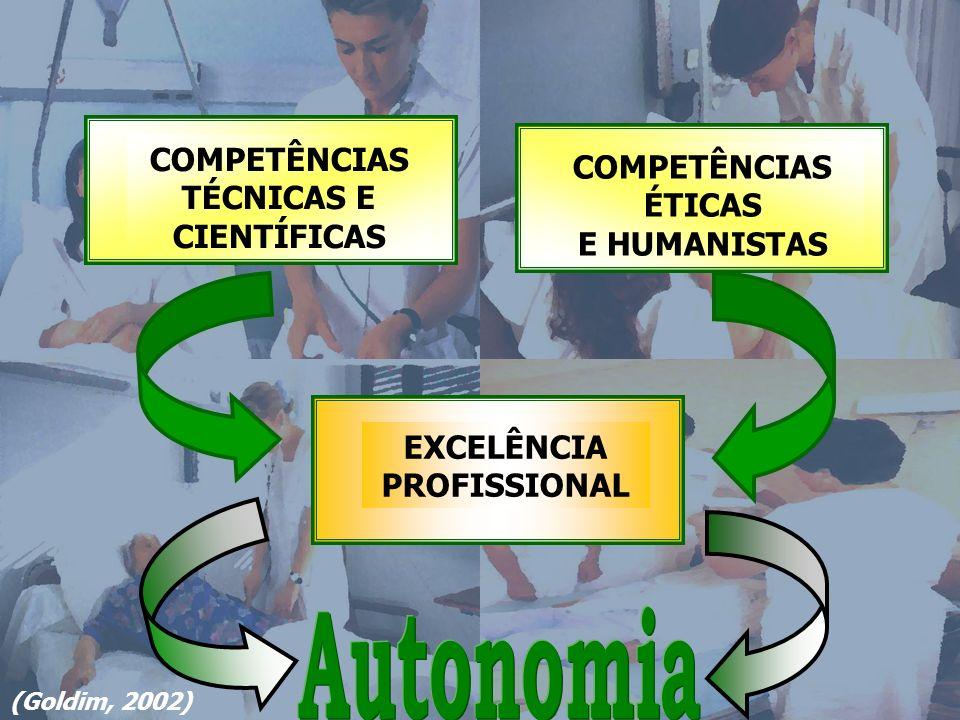 COMPETÊNCIAS TÉCNICAS E CIENTÍFICAS EXCELÊNCIA PROFISSIONAL