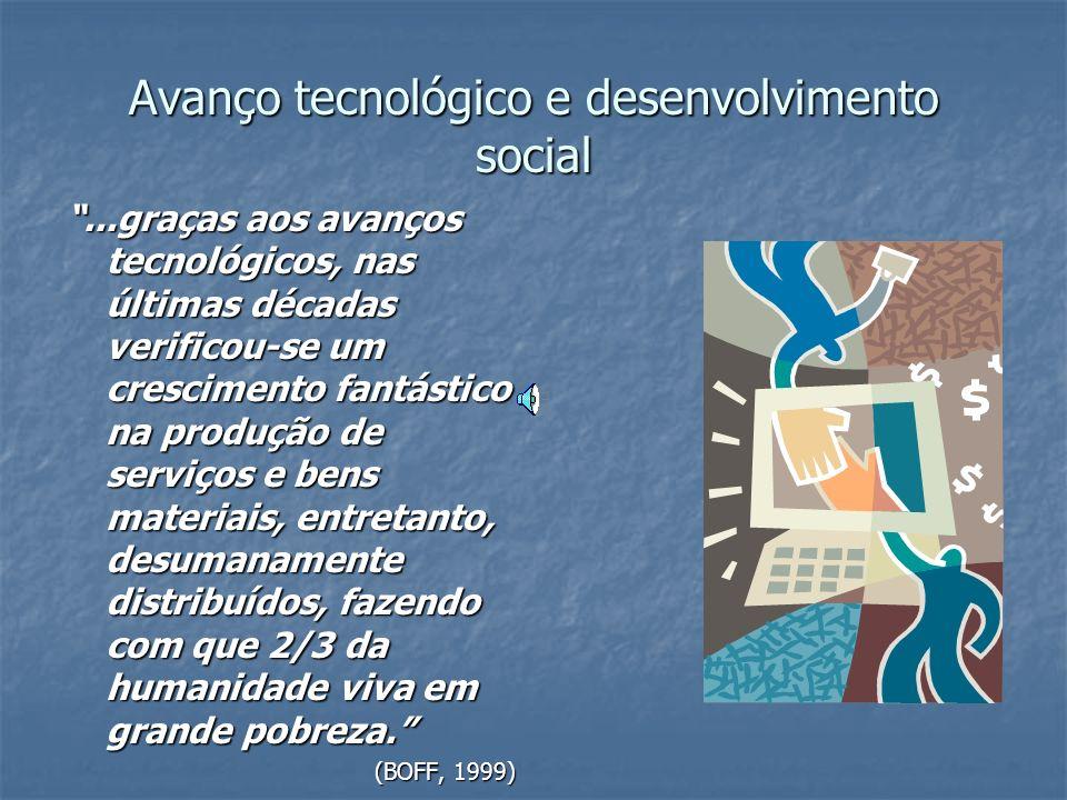 Avanço tecnológico e desenvolvimento social