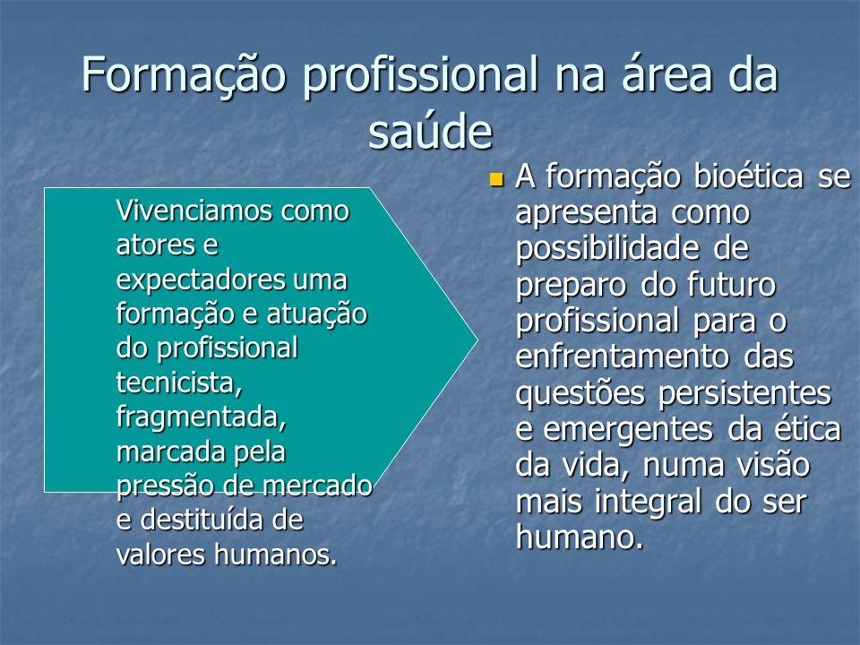 Formação profissional na área da saúde