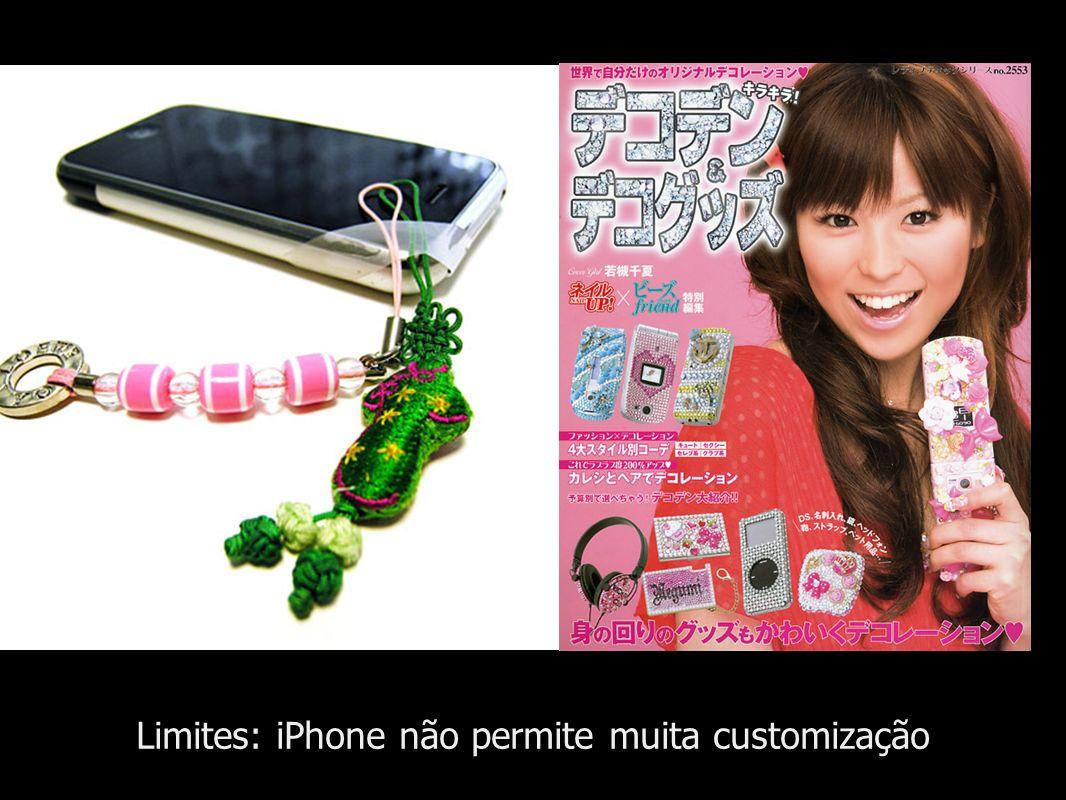 Limites: iPhone não permite muita customização