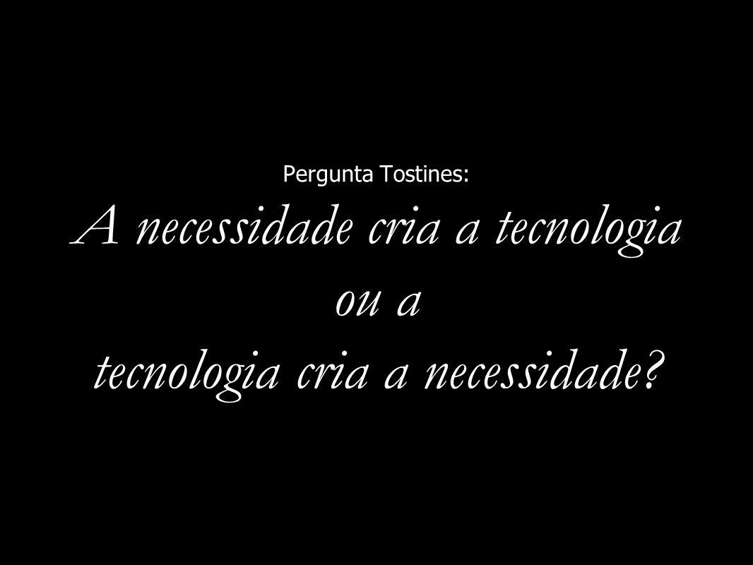 Pergunta Tostines: A necessidade cria a tecnologia ou a tecnologia cria a necessidade