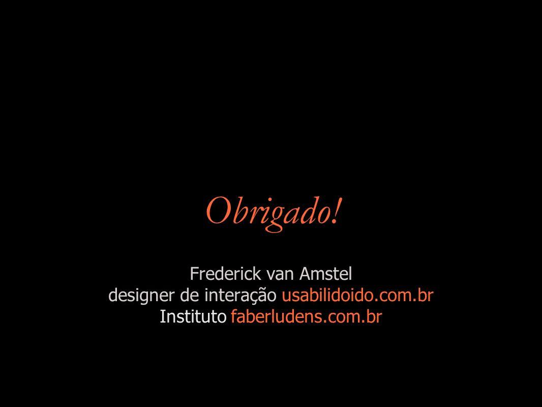 Obrigado! Frederick van Amstel