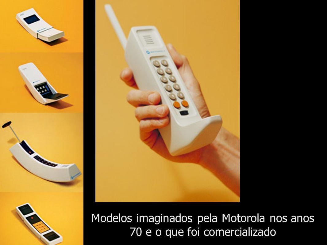 Modelos imaginados pela Motorola nos anos 70 e o que foi comercializado