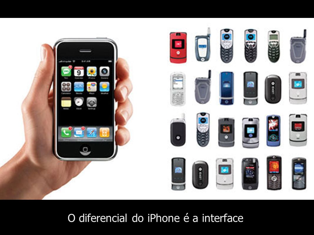 O diferencial do iPhone é a interface
