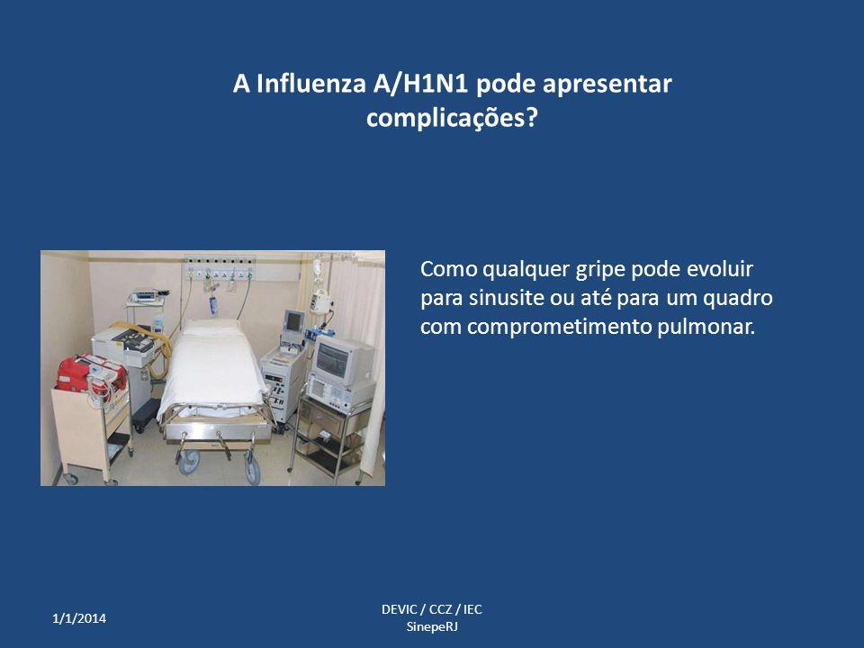 A Influenza A/H1N1 pode apresentar complicações