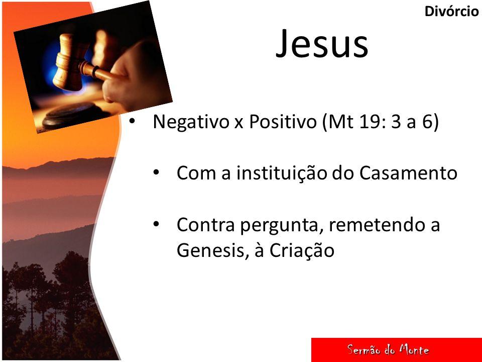 Jesus Negativo x Positivo (Mt 19: 3 a 6)