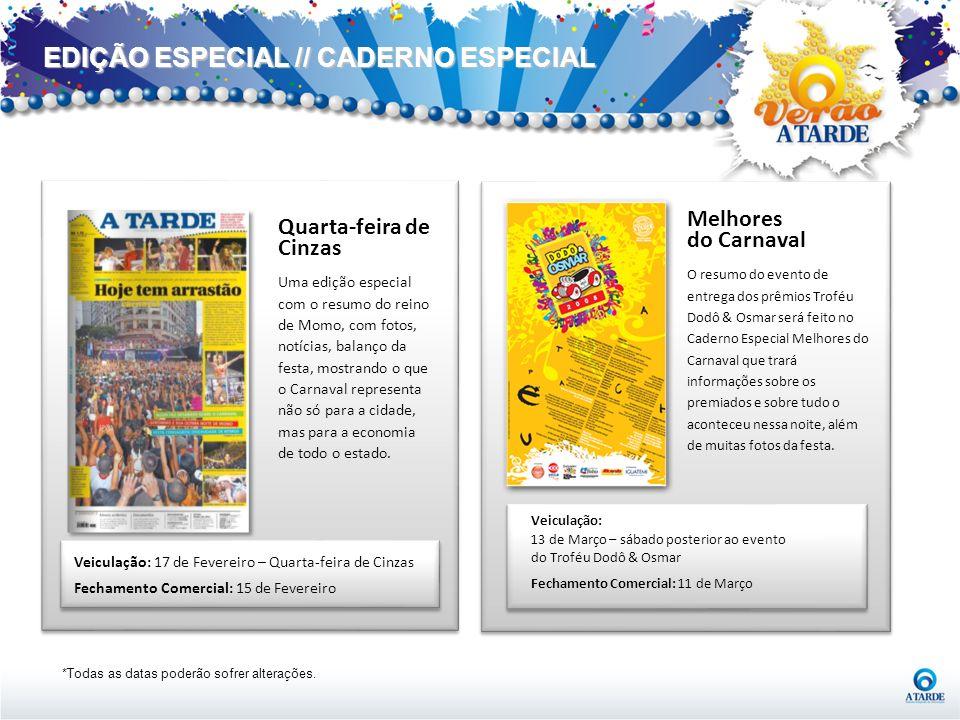 EDIÇÃO ESPECIAL // CADERNO ESPECIAL