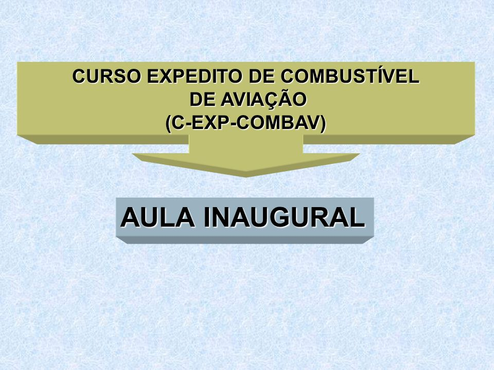 CURSO EXPEDITO DE COMBUSTÍVEL