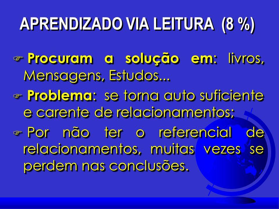 APRENDIZADO VIA LEITURA (8 %)