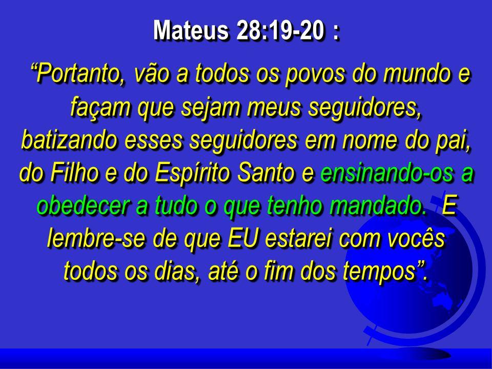Mateus 28:19-20 :