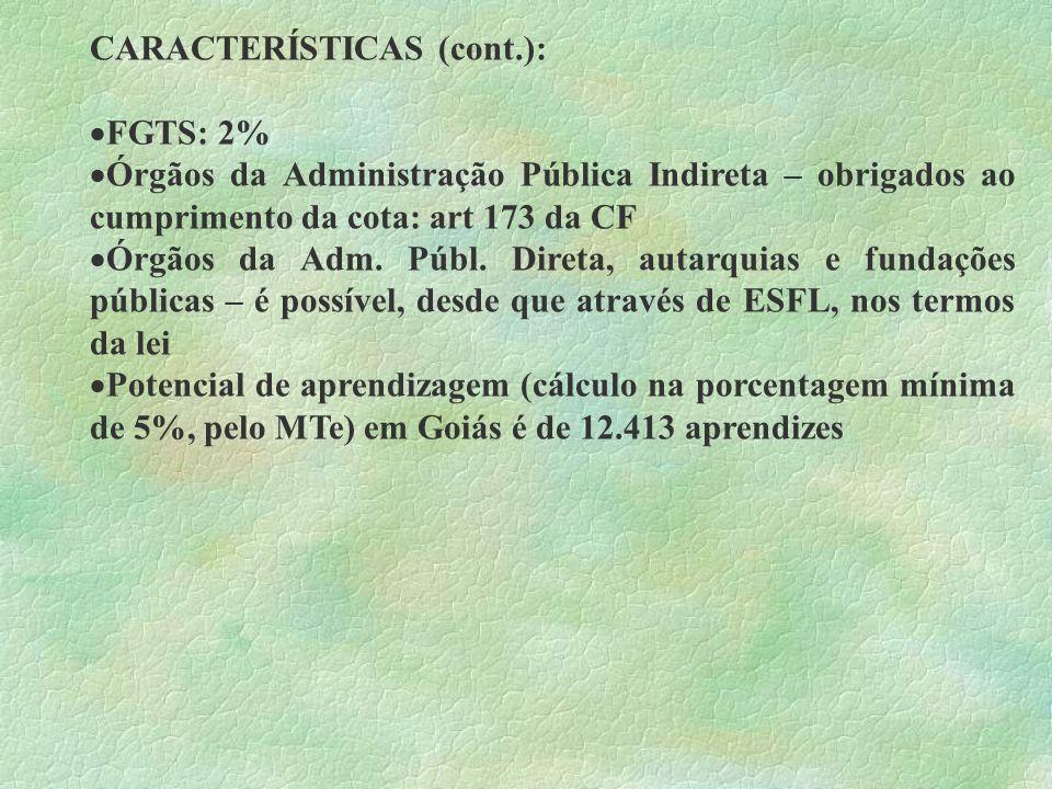 CARACTERÍSTICAS (cont.):