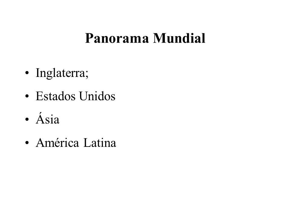 Panorama Mundial Inglaterra; Estados Unidos Ásia América Latina