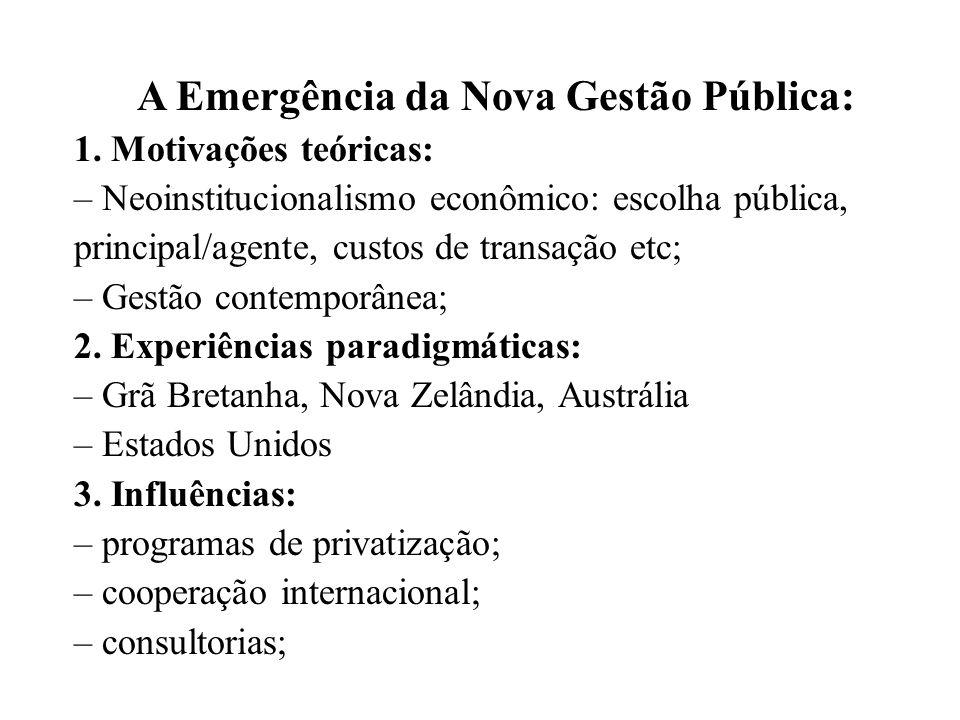 A Emergência da Nova Gestão Pública: