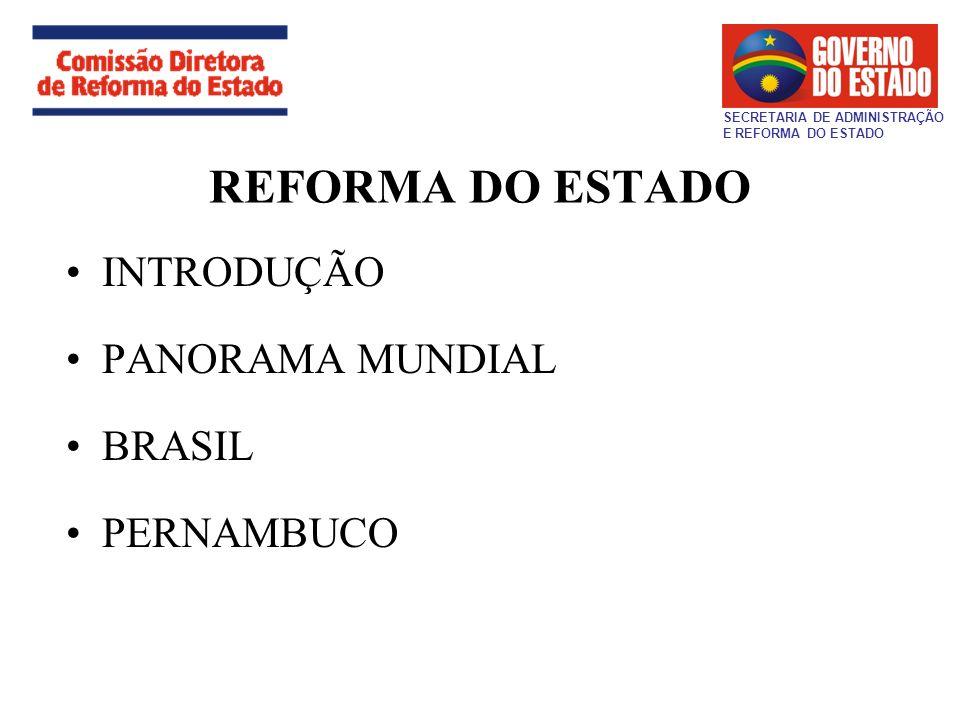 REFORMA DO ESTADO INTRODUÇÃO PANORAMA MUNDIAL BRASIL PERNAMBUCO