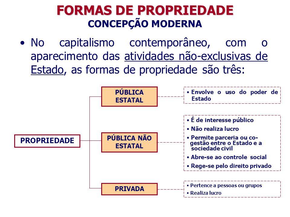 FORMAS DE PROPRIEDADE CONCEPÇÃO MODERNA