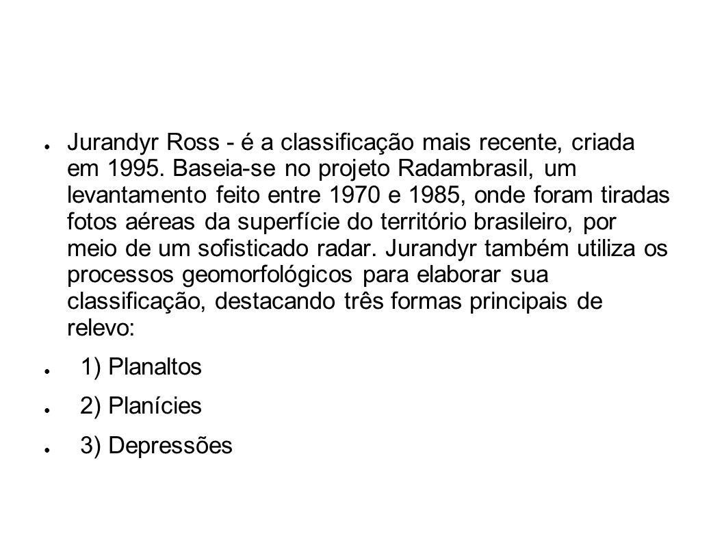 Jurandyr Ross - é a classificação mais recente, criada em 1995
