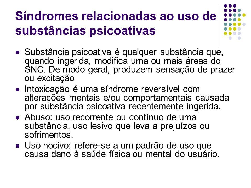 Síndromes relacionadas ao uso de substâncias psicoativas