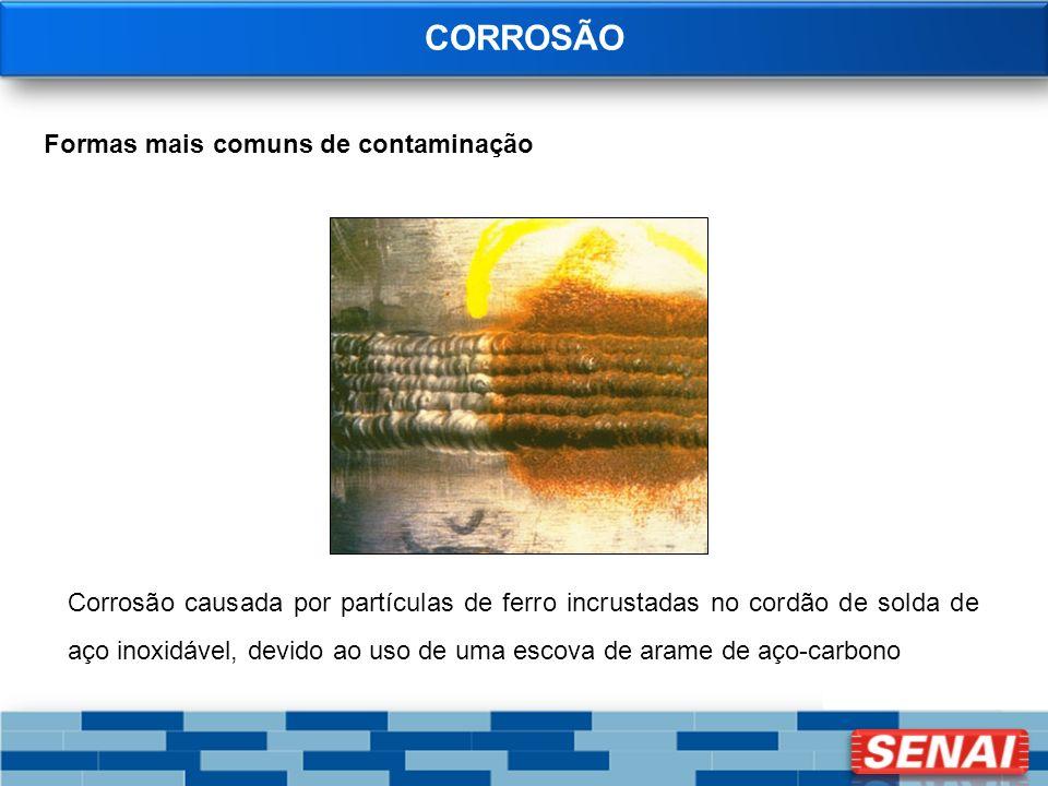 CORROSÃO Formas mais comuns de contaminação