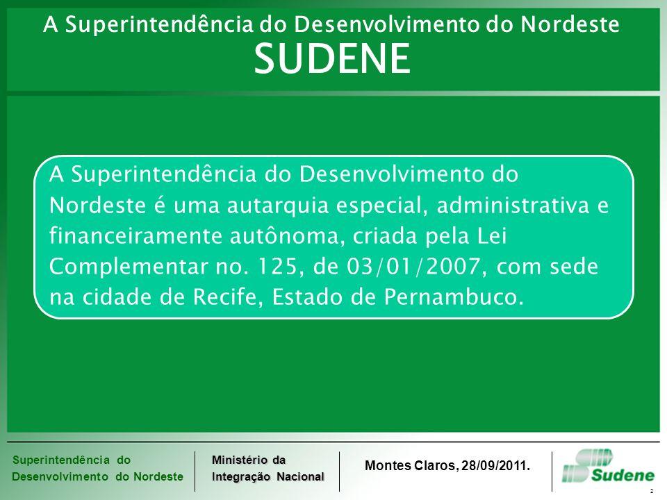 A Superintendência do Desenvolvimento do Nordeste SUDENE