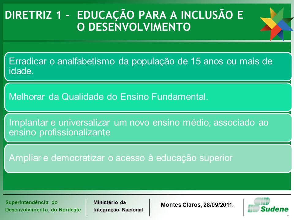 DIRETRIZ 1 - EDUCAÇÃO PARA A INCLUSÃO E O DESENVOLVIMENTO