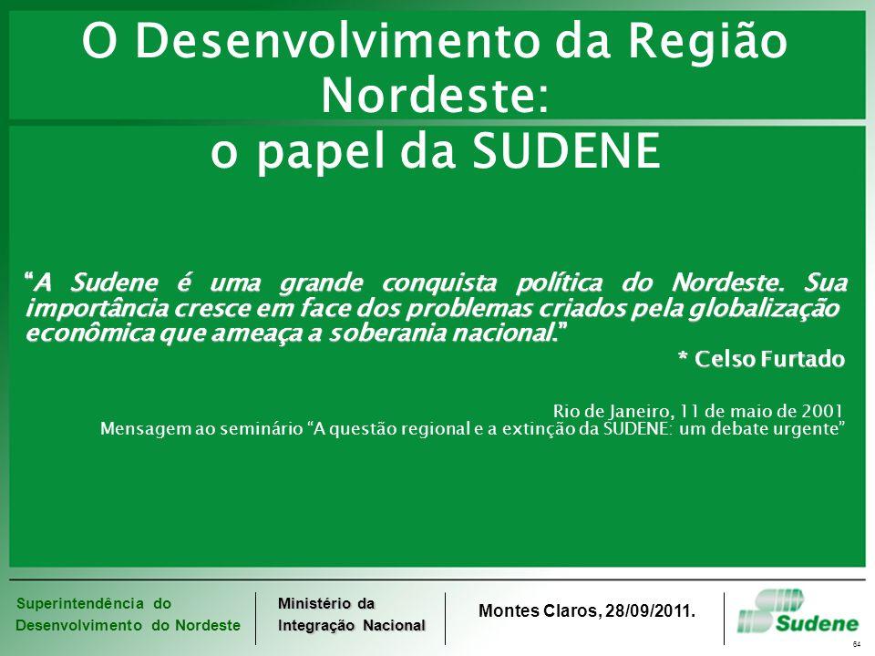 O Desenvolvimento da Região Nordeste: o papel da SUDENE