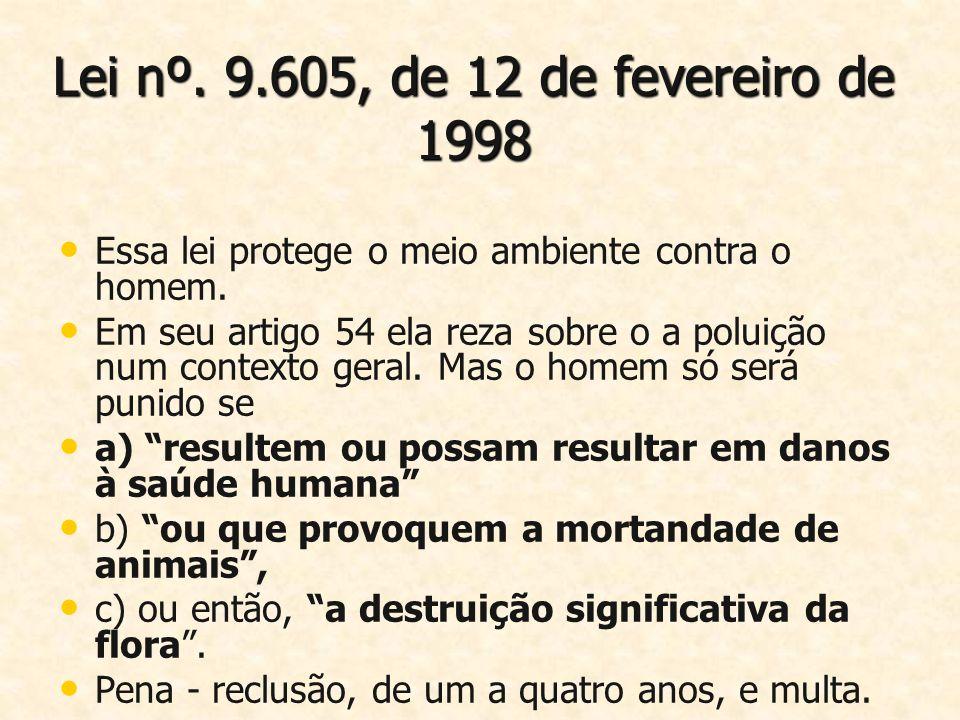Lei nº. 9.605, de 12 de fevereiro de 1998