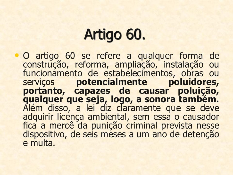 Artigo 60.