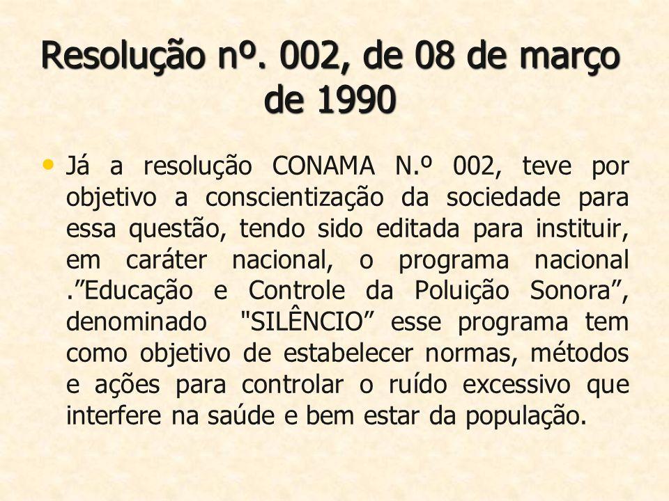 Resolução nº. 002, de 08 de março de 1990