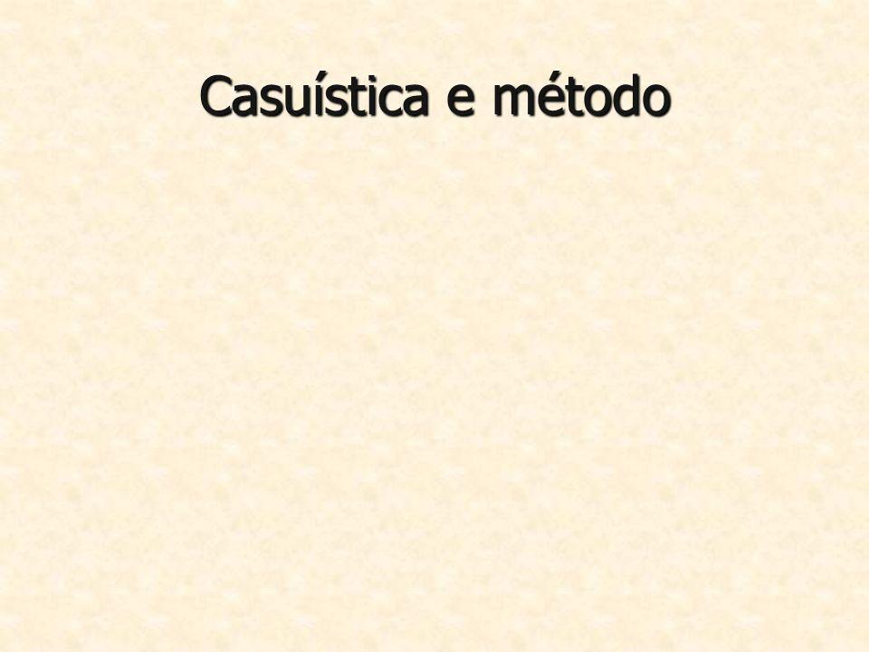 Casuística e método