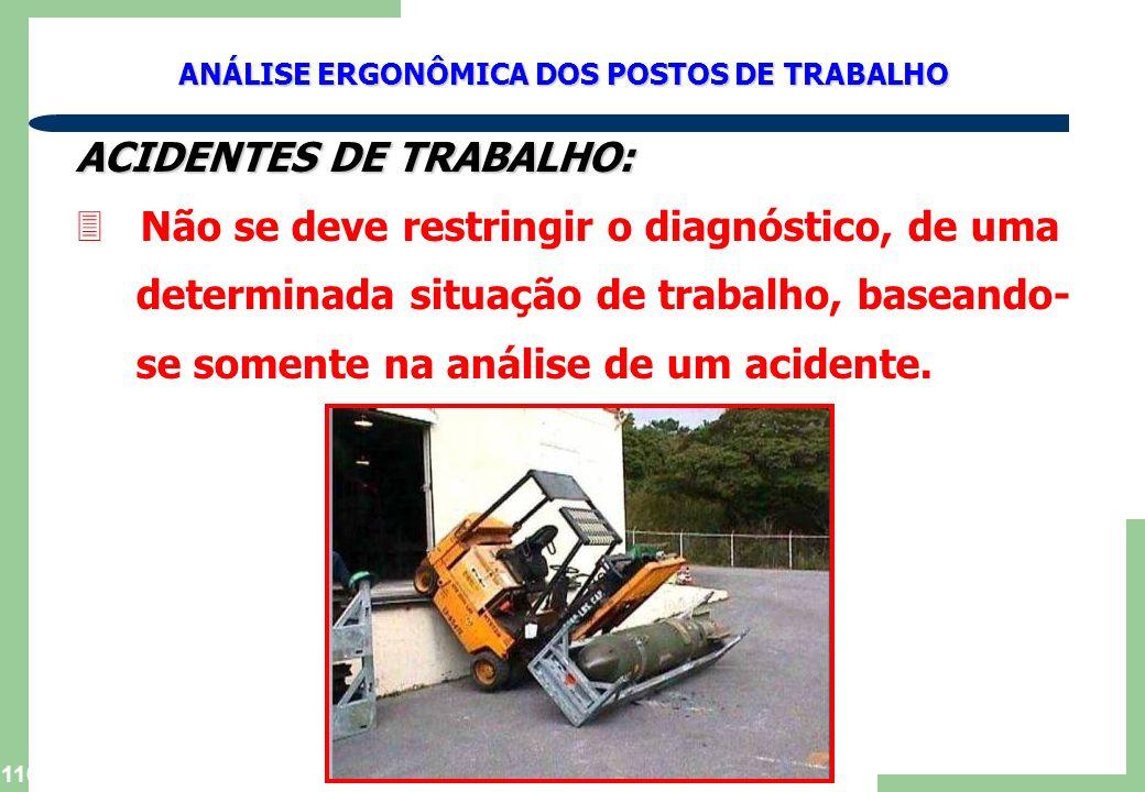 ACIDENTES DE TRABALHO: Não se deve restringir o diagnóstico, de uma