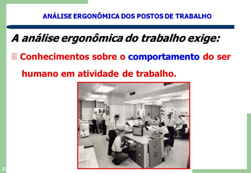 A análise ergonômica do trabalho exige: