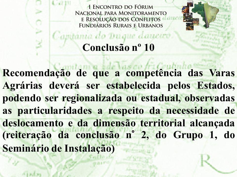 Conclusão nº 10