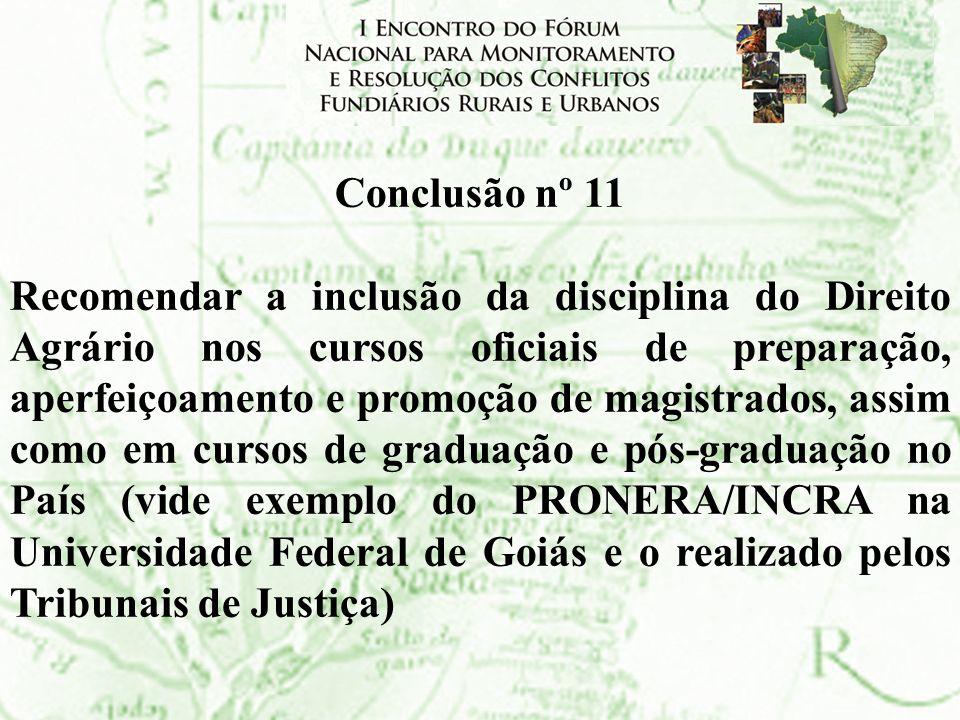 Conclusão nº 11
