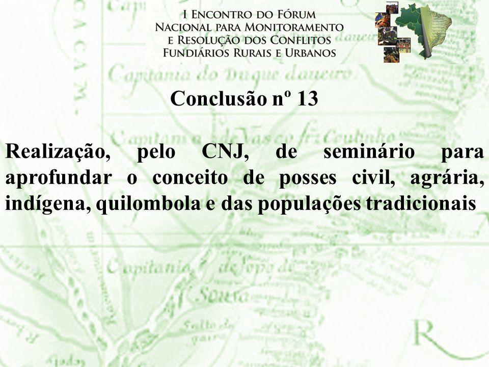 Conclusão nº 13