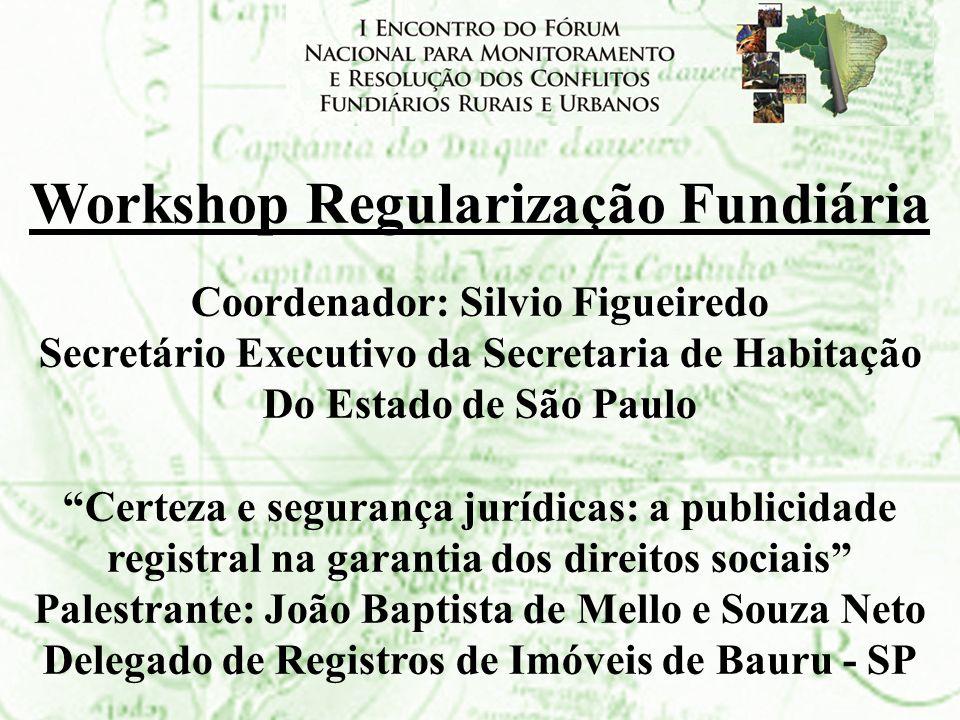 Workshop Regularização Fundiária