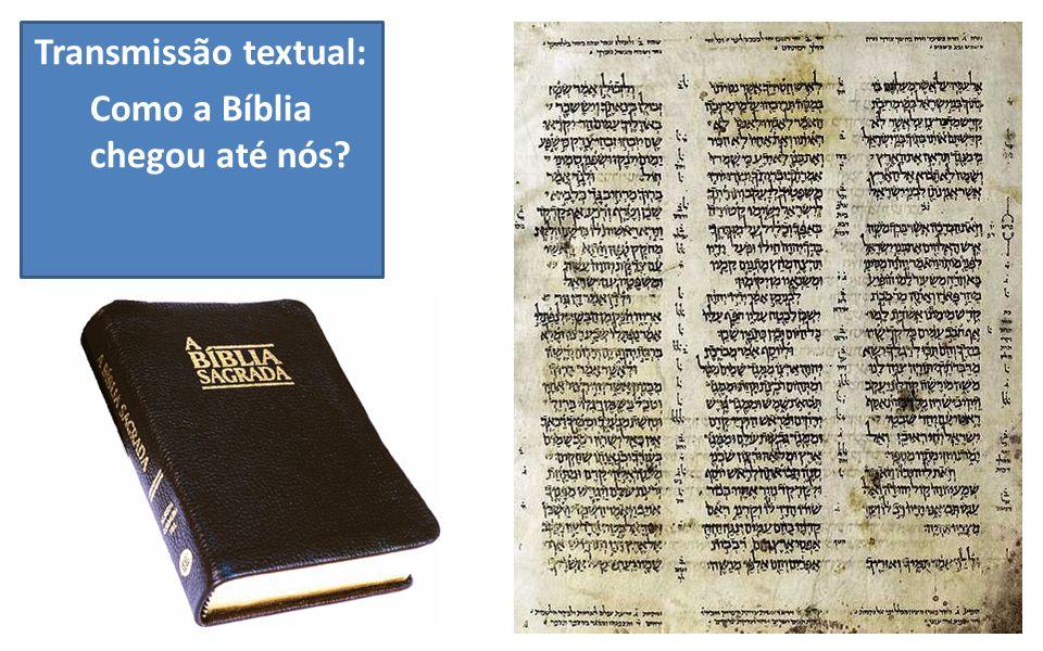 Transmissão textual: Como a Bíblia chegou até nós