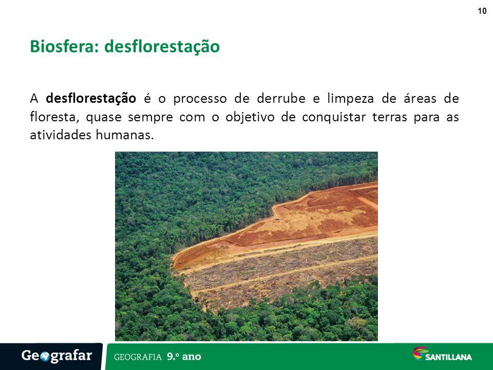 Biosfera: desflorestação