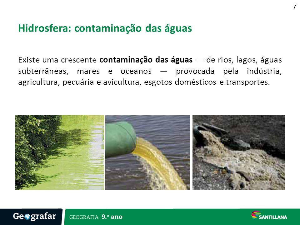 Hidrosfera: contaminação das águas