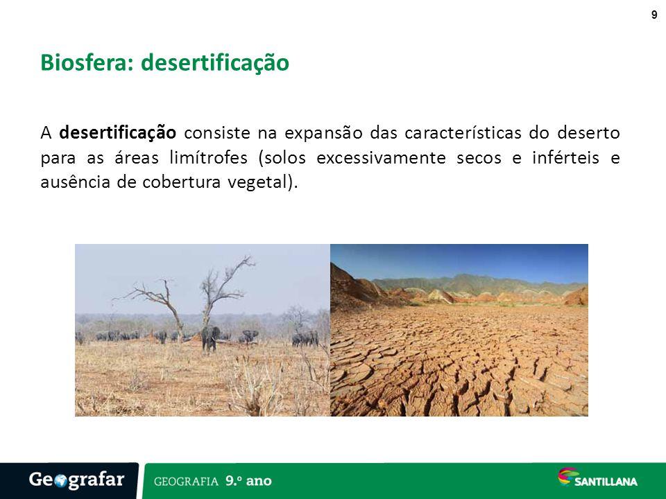Biosfera: desertificação