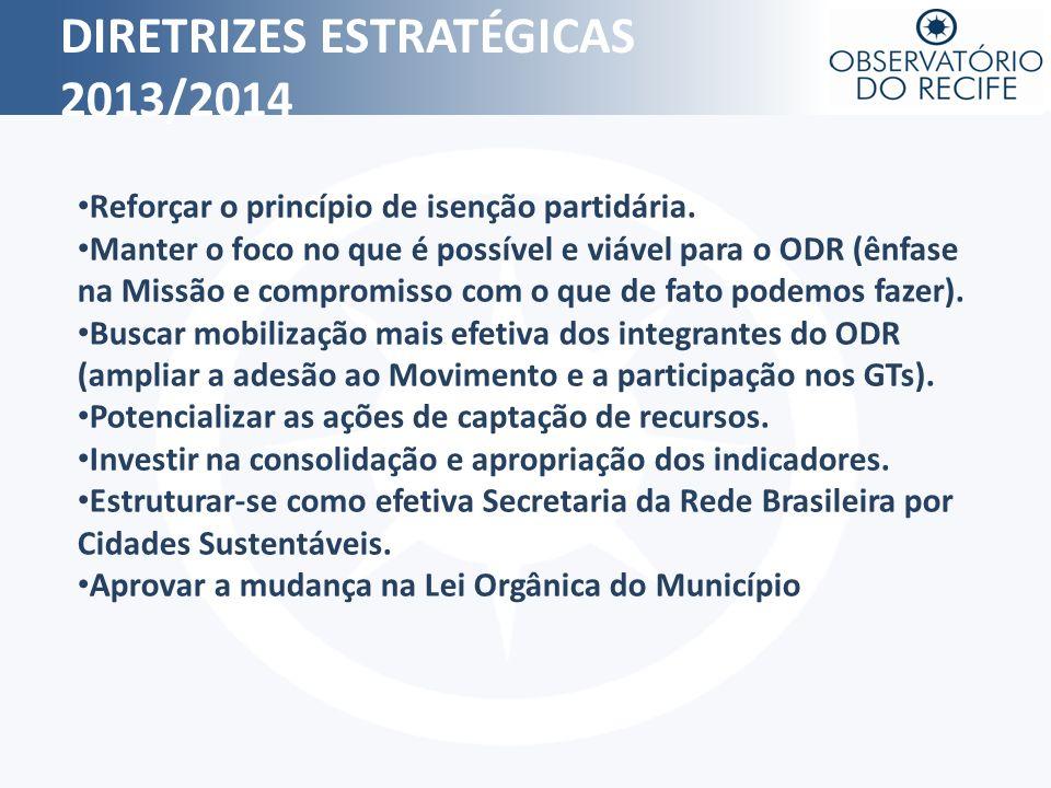DIRETRIZES ESTRATÉGICAS 2013/2014