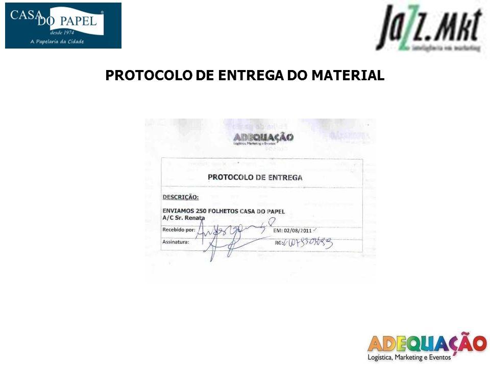 PROTOCOLO DE ENTREGA DO MATERIAL