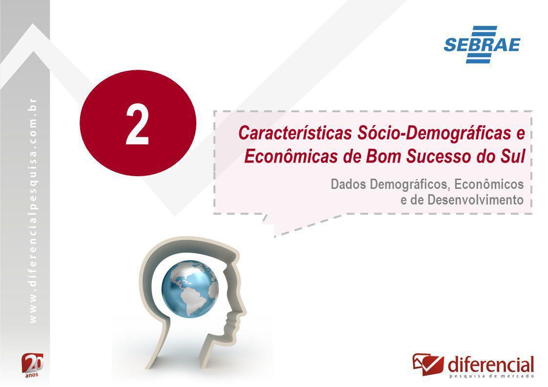 Características Sócio-Demográficas e Econômicas de Bom Sucesso do Sul